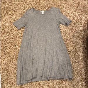 Light grey t-shirt dress